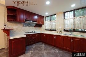 美式厨房整体橱柜装修设计图