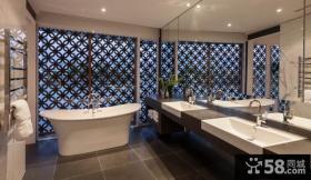 现代风格浴室的设计