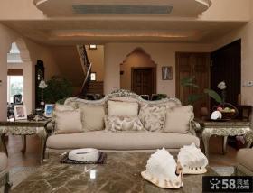 别墅室内客厅装饰效果图