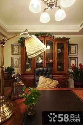 美式风格室内设计书房