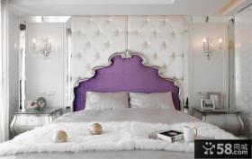 欧式古典卧室床头软包
