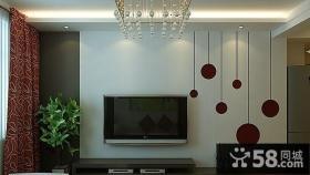 客厅电视背景墙效果图欣赏 客厅电视背景墙效果图简单版