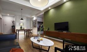 美式现代风格二居室设计效果图