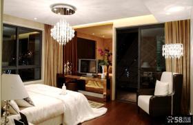 现代风格卧室水晶吸顶灯图片