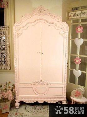 粉红色衣柜图片