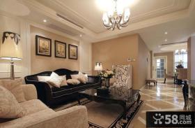 现代欧式小两居室客厅装修图