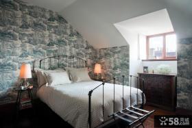 阁楼卧室壁纸设计效果图