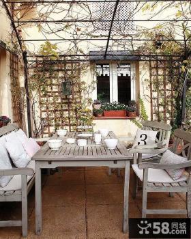 三室两厅田园风格阳台修效果图大全2012图片