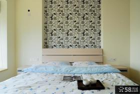 简约小卧室墙纸装修效果图