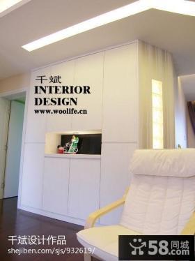 现代简约玄关鞋柜装修效果图片