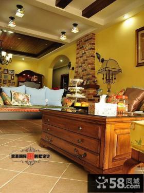美式客厅实木茶几图片欣赏
