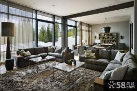 日式简约风格别墅客厅装修设计图片欣赏
