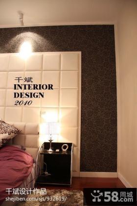 现代简约风格卧室壁纸背景墙效果图大全