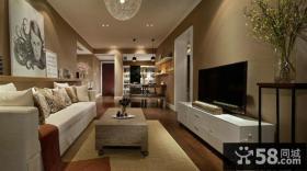 美式设计时尚客厅电视背景墙效果图欣赏大全