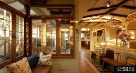 乡村美式别墅室内装修设计效果图