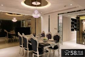 欧式设计室内餐厅吊顶图片大全