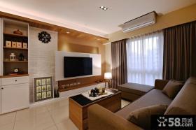 现代中式设计客厅电视背景墙图