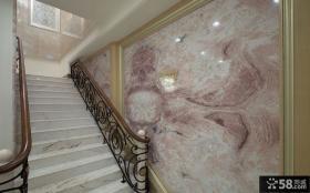 别墅楼梯间马赛克墙画图片