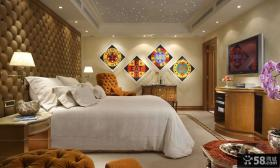 豪华时尚卧室壁纸装修效果图