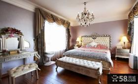 欧式古典风格卧室床头柜图片