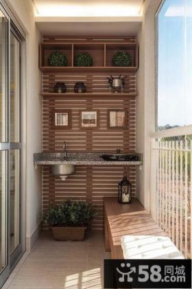 6平米现代休闲阳台设计大全