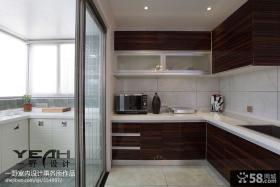 现代简约阳台厨房装修效果图