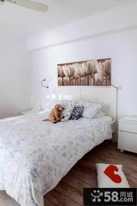 简约卧室床头装饰画效果图
