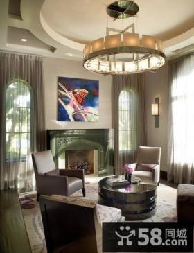 现代客厅吊顶设计图片