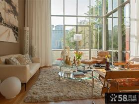 现代美式设计豪华别墅客厅装修图片