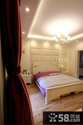 简欧式风格卧室床头背景墙装修效果图