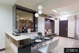 现代简约风格三房装修餐厅效果图