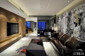 现代风格别墅客厅设计实景图