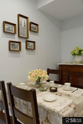 美式田园设计餐厅相片墙图