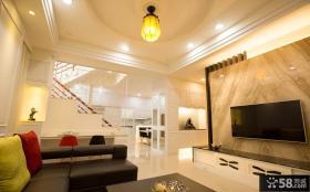 新古典风格私人别墅室内装潢效果图