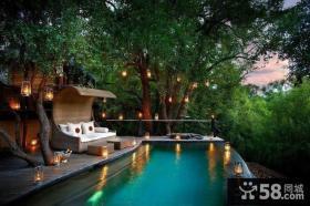 东南亚风格别墅庭院设计平面图