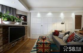 装饰设计简单客厅电视背景墙