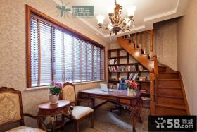 复式楼家装书房装修效果图