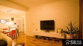 简约石膏电视背景墙装修效果图大全2013图片