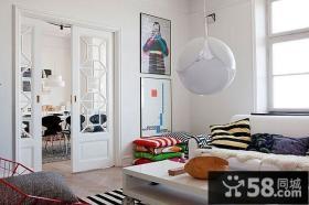 70平小户型客厅玄关装修效果图大全2012图片