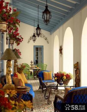 地中海阳台装饰