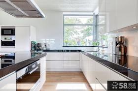 厨房L型橱柜台面设计效果图