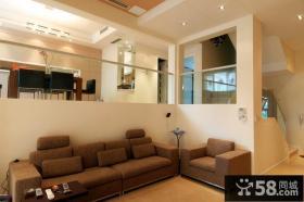 现代风格错层式客厅沙发效果图