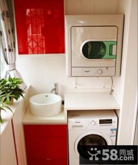 生活阳台洗衣房设计效果图
