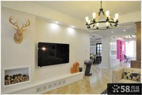 简单美式一室一厅户型装修效果图
