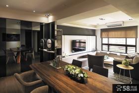 简欧风格室内客厅吊顶效果图2014