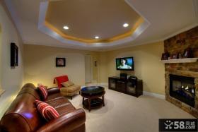 客厅吊顶造型装饰效果图