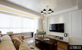 美式风客厅电视背景墙装修图片欣赏