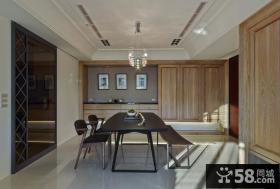美式风格公寓餐厅装饰效果图