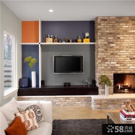 美式家居设计优质客厅电视背景墙
