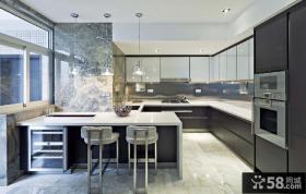 现代元素打造两房两厅厨房装修效果图大全2014图片